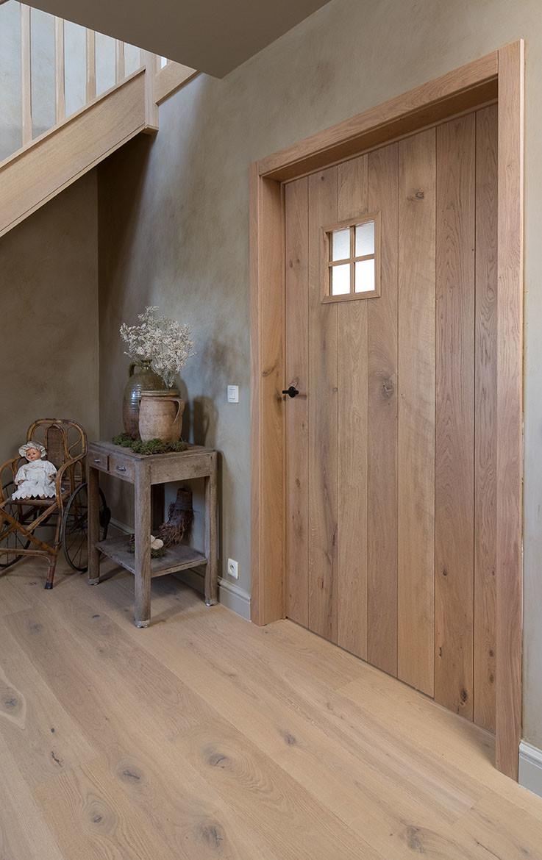Stevige massieve houten deur