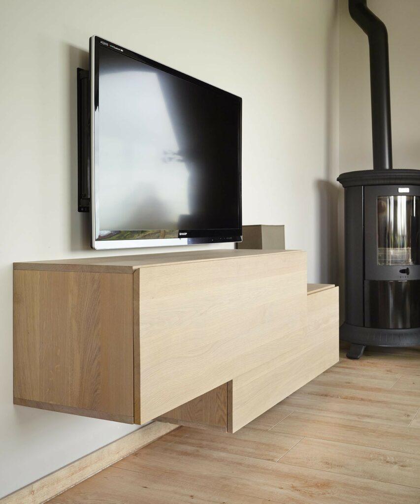 Tv Kast Klassiek Eiken.Eiken Tv Meubel Op Maat De Bosbeke