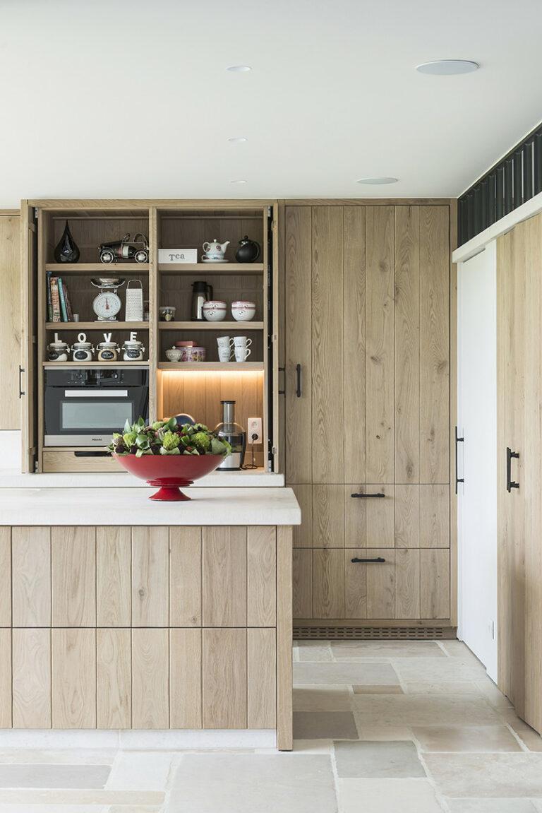 Massieve houten keuken