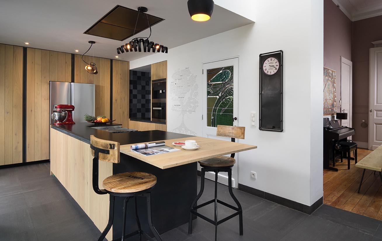 Moderne eiken design keuken