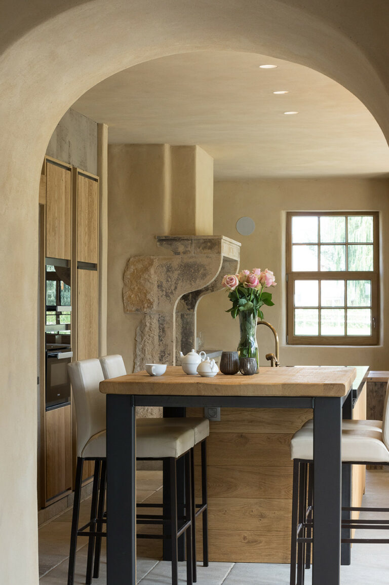 Mediterraanse houten keuken