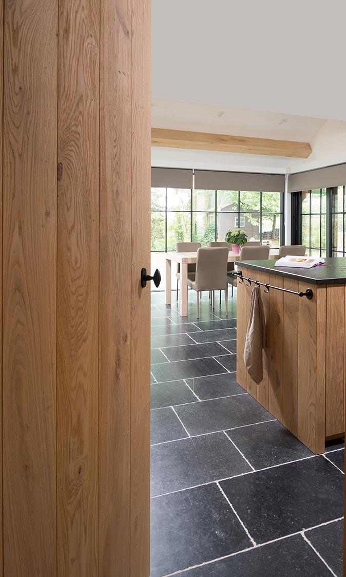 Open houten keuken