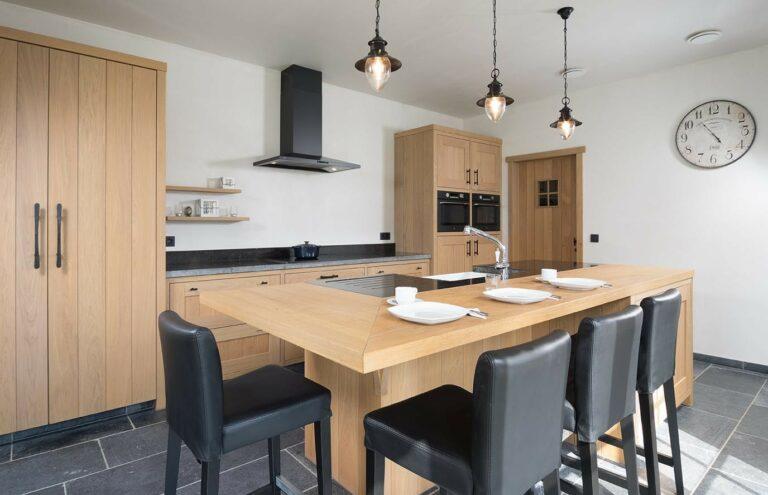 Keukeneiland met klassieke toets