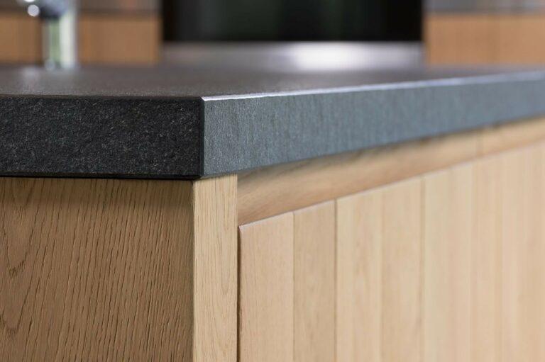 Detail granieten werkblad