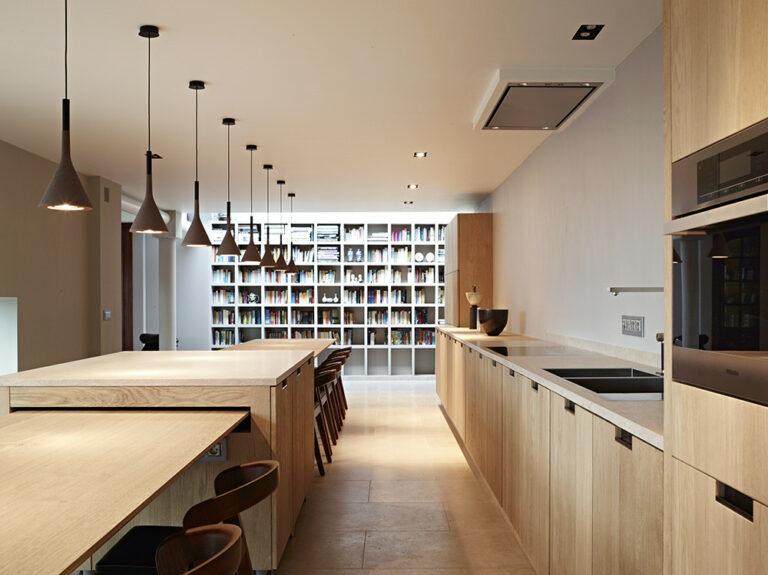Open leefruimte en keuken de Bosbeke